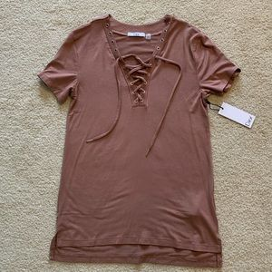 Lace Up T-Shirt